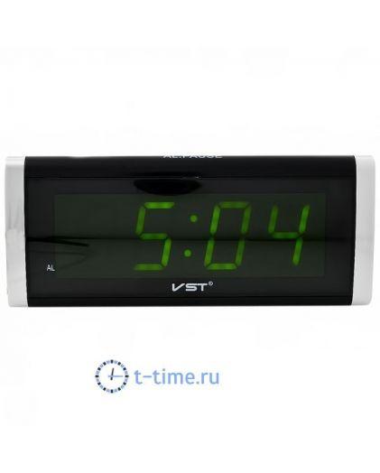 Часы сетевые Vst VST730-2 часы 220В зел.цифры-30
