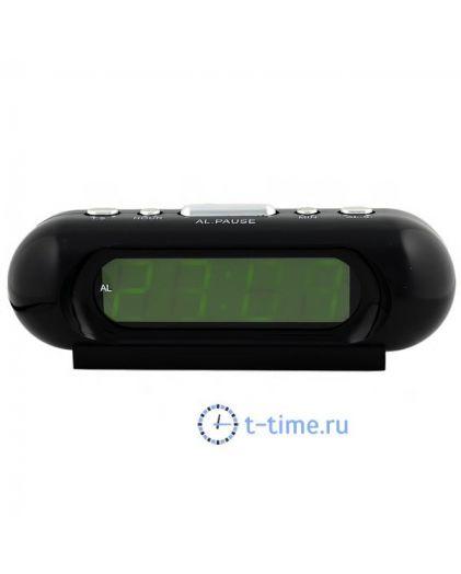 Часы сетевые Vst VST716-2 часы 220В зел.цифры-40