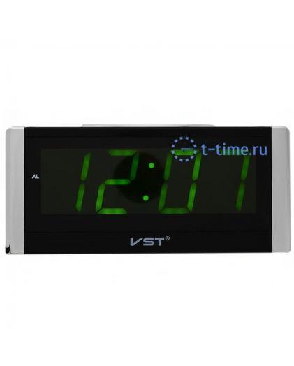 Часы сетевые Vst VST731-2 часы 220В зел.цифры-30