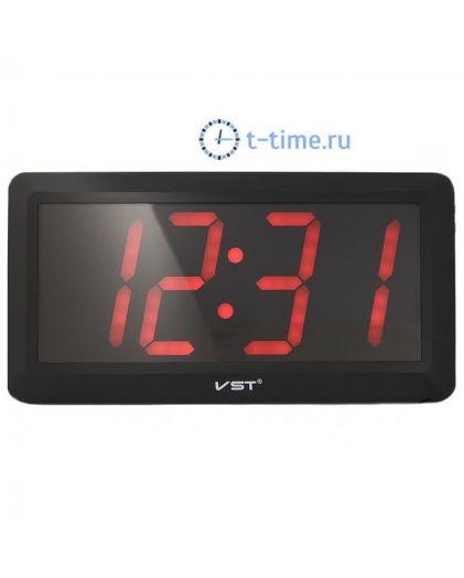 Часы сетевые Vst VST780-1 часы 220В красн.цифры+блок-10