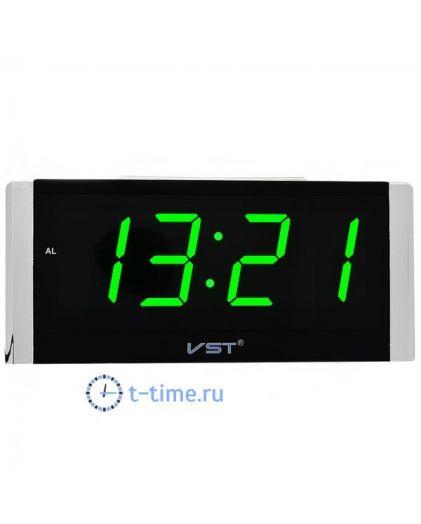 Часы сетевые Vst VST731-4 часы 220В зел.цифры-30