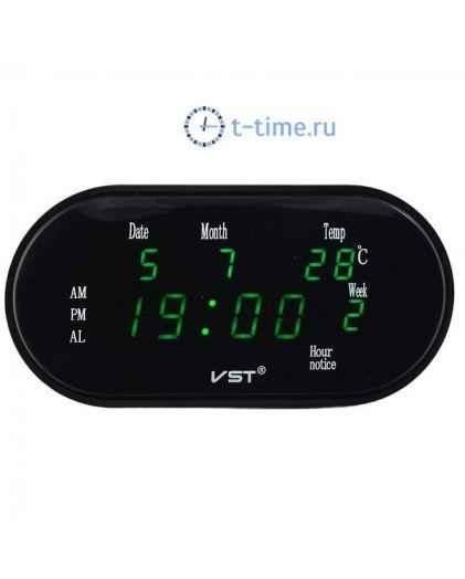 VST 801WX-4 часы 220В зел.цифры (дата,температура)+блок-30