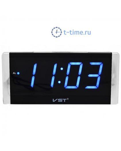 Часы сетевые Vst VST731-5 часы 220В син.цифры-30