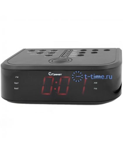 ГРАНАТ C-0946-Крас будильник сетевой