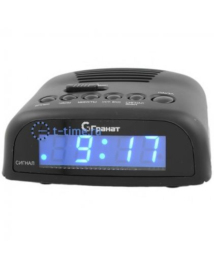 ГРАНАТ C-0621-Син будильник сетевой