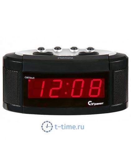 ГРАНАТ C-1238-Крас будильник сетевой
