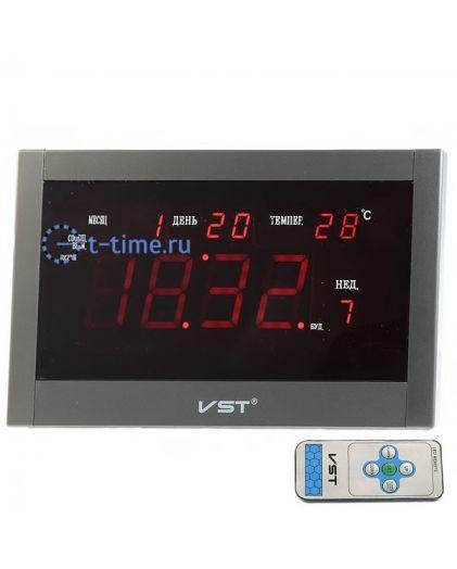 VST771T-1 часы 220В красн.цифры+блок/22/44