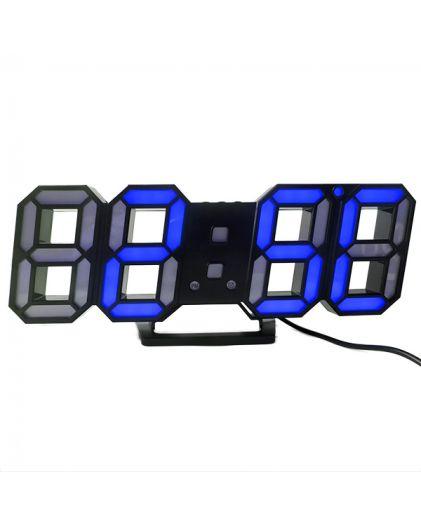 Часы сетевые 220В синие\белые циф. DS-6609