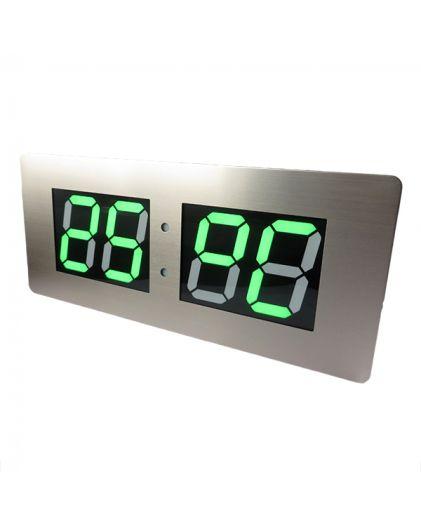 Часы сетевые 220В зел циф TL3513A