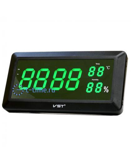 VST780S-4 часы 220В зел.цифры (температ, влажность)10