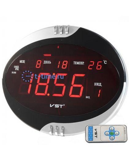 VST770T-1 часы 220В красн.цифры+блок/22/44